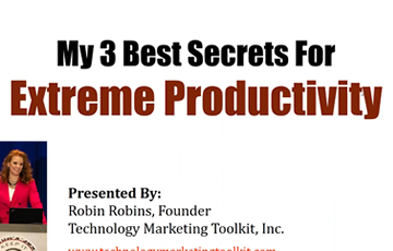 Marketing Deep Dive: My 3 Best Secrets For Extreme Productivity