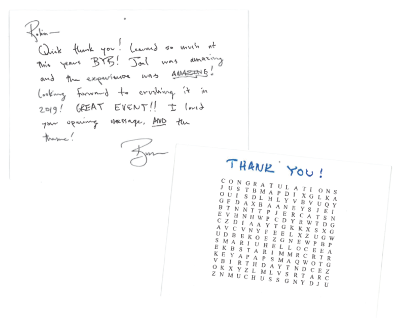 Dynamic Edge Thank you note