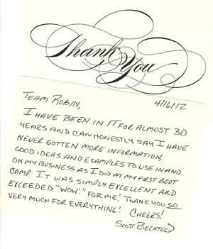 Thank you note